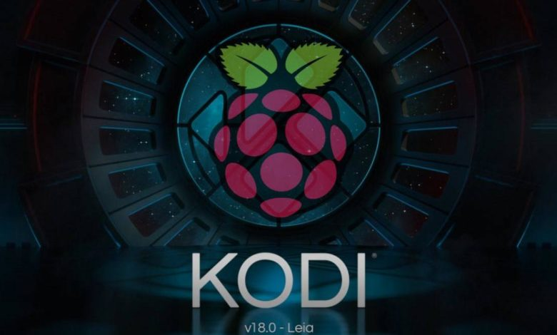 Kodi 18 läuft auf dem Raspberry Pi.