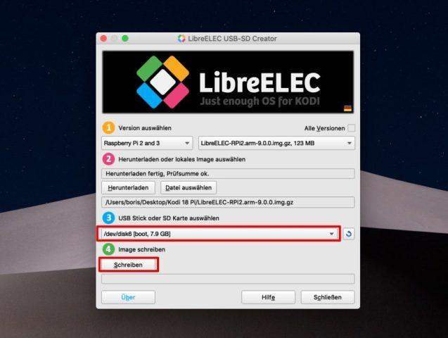 LibreELEC SD installer Pi