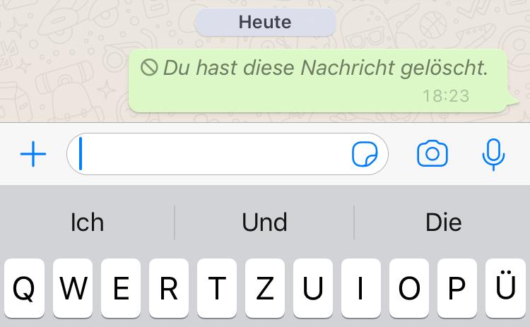 Leere nachricht tricks whatsapp Hoppla! WhatsApp