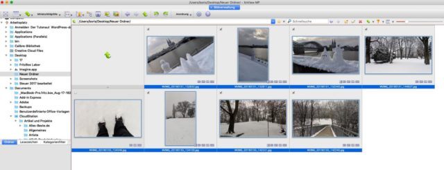 XNView Bilder Auswahl