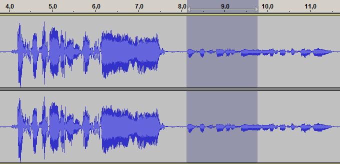 audacity volume