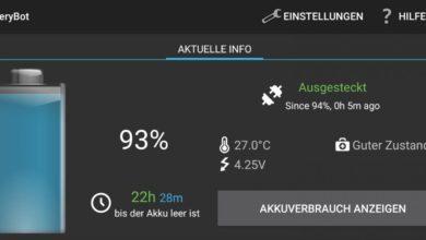 Bild von Android: Akkulaufzeit jederzeit im Blick
