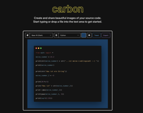 Carbon Homepage