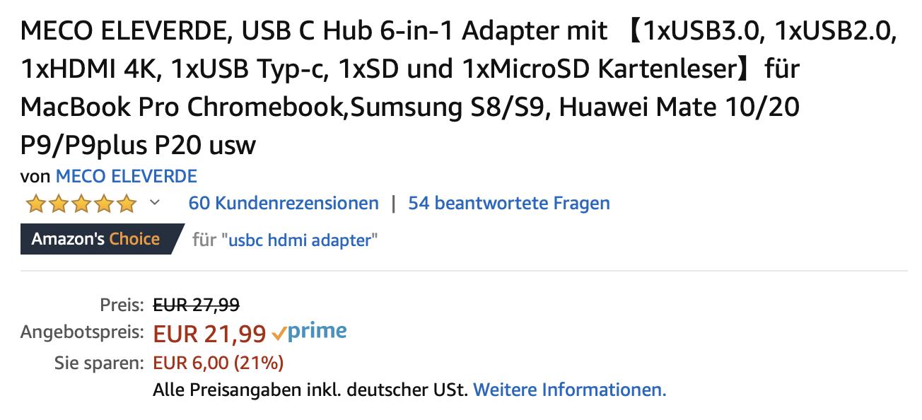 Sieht nach Fake aus, ist aber hier tatsächlich keines: Das Produkt scheint wirklich gut zu sein. (Bild: Screenshot Amazon.de)