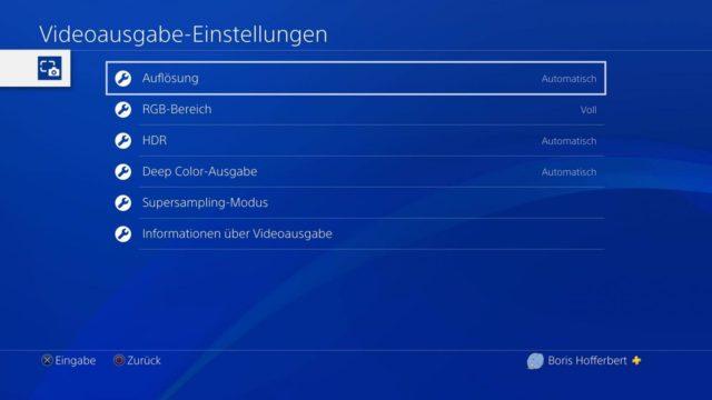PS4 HDR 4K Einstellungen