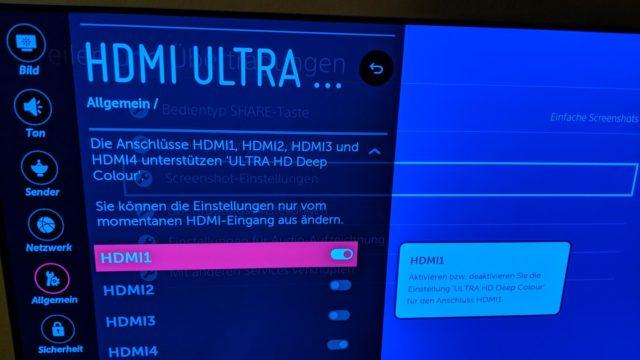 TV-Einstellungen 4K