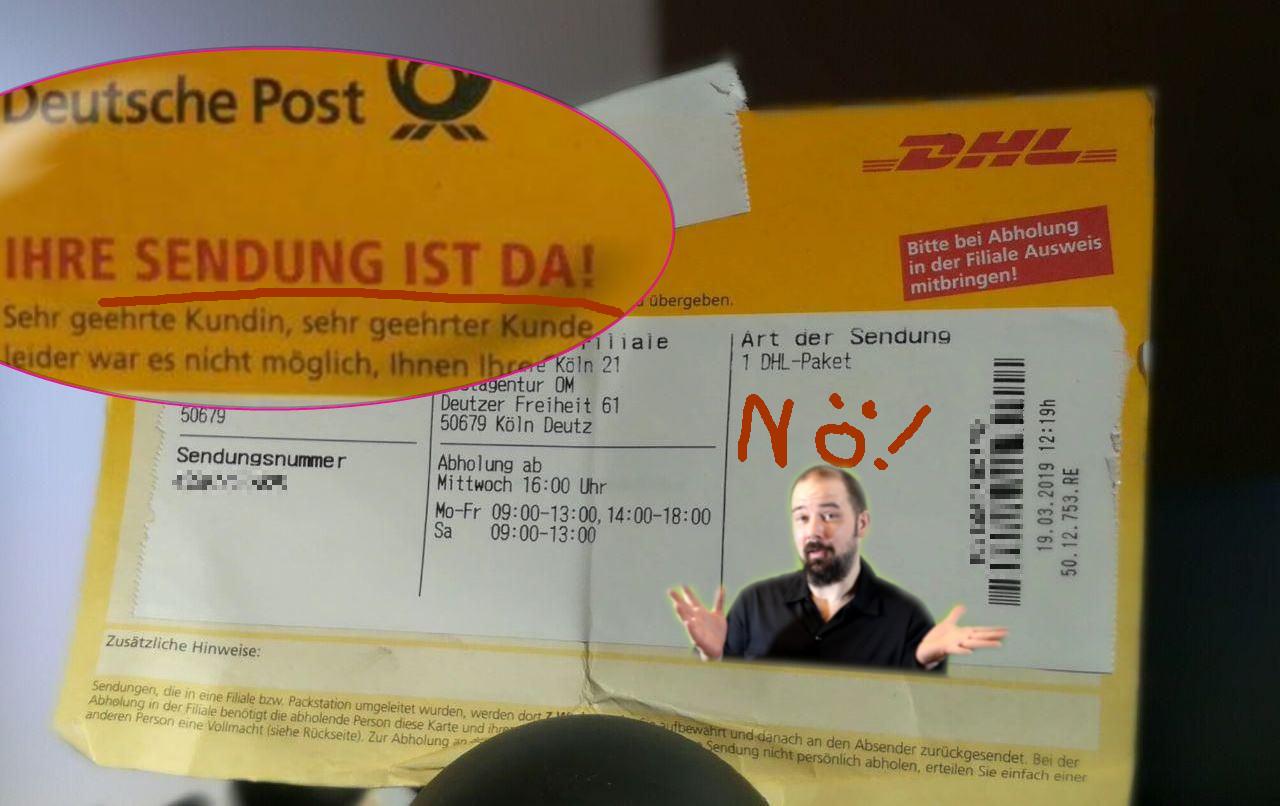 Dhl Packstation Karte.Dhl Co Per Mail Beschweren Und Das Geheimnis Der Zettelkleber