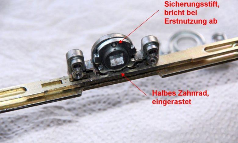 fenstergetriebe reparieren