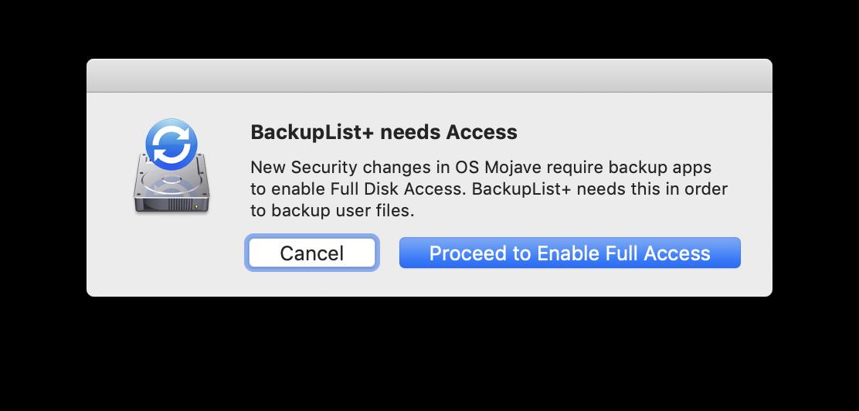 BackupList+ braucht leider starken Systemzugriff, um korrekt zu funktionieren. Ladet das Programm daher ausschließlich von der Hersteller-Website.