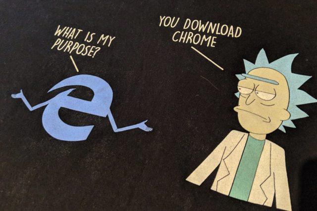 Chrome Rick Morty Edge
