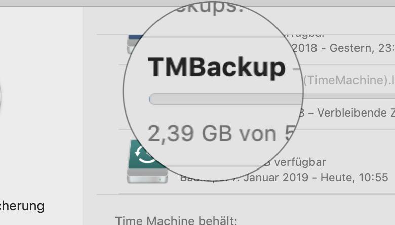 Time Machine auf der QNAP-NAS ist kein Problem.