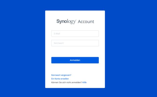Synology Konto einrichten
