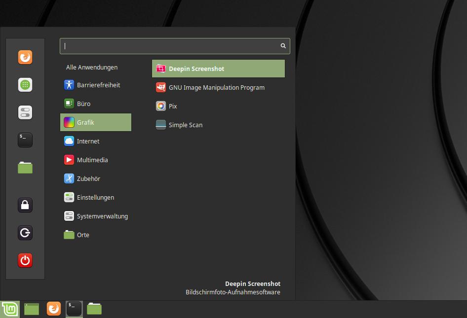 deepin screenshot