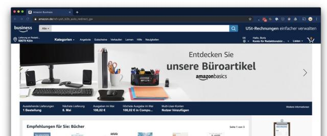 Amazon Business Konto einrichten