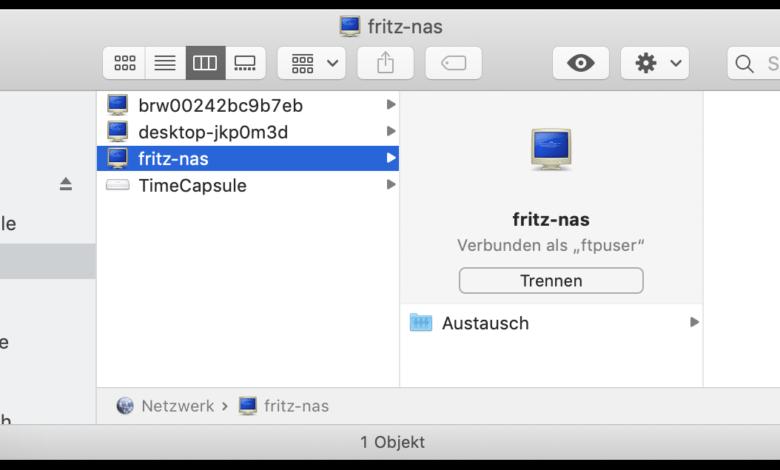 Die FritzNAS ist ein praktischer Austauschordner.