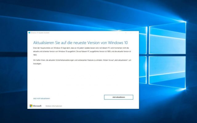 Windows 10 Upgrade Mai 2019 manuell installieren