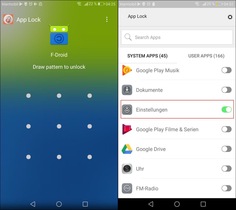 applock screenshot