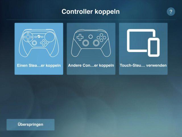 iPad Controller koppeln