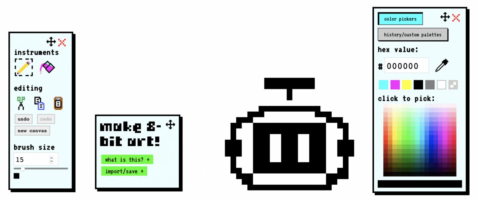 Die Erstellung von 8-Bit-Pixelgrafik ist ein Kinderspiel.