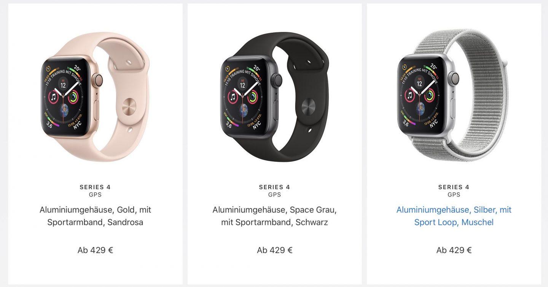 Apple-Watch: Nicht ganz so günstiger Spaß. (Screenshot von Apple.com)