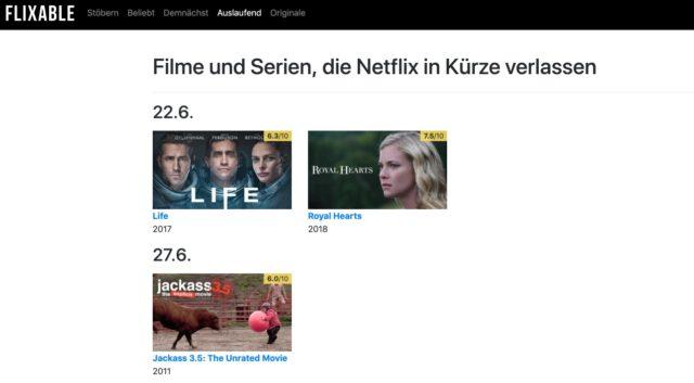 Filme Serien Netflix verlassen