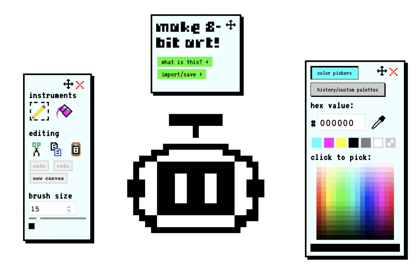 Make8bitart bietet einen ebenso einfachen wie effektiven Editor.