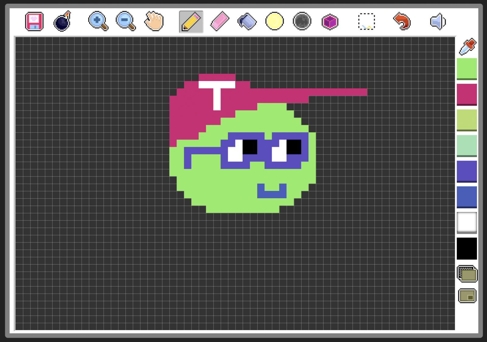 Einfache Pixelgrafiken sind mit Make Pixel Art schnell erstellt.