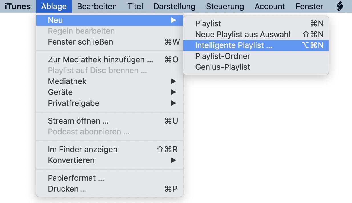 Mit einer smarten Playlist könnt Ihr alle Songs auf das iPhone laden.
