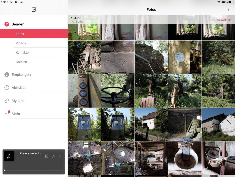Mit SendAnywhere könnt Ihr Fotos zwischen iOS und Android austauschen.