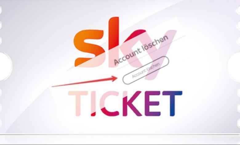 Sky Ticket Konto löschen