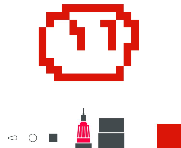 Die Gratis-Version von Tayasui Sketches unterstützt leider keine Pixelgrafik mehr.