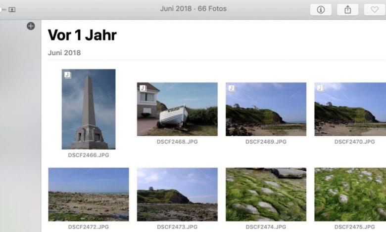 Wollt Ihr wissen, was Ihr heute vor X Jahren gemacht habt? Mit Apple Fotos kein Problem!