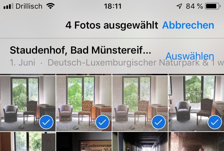 Wählt die Fotos in der Fotos-App aus...