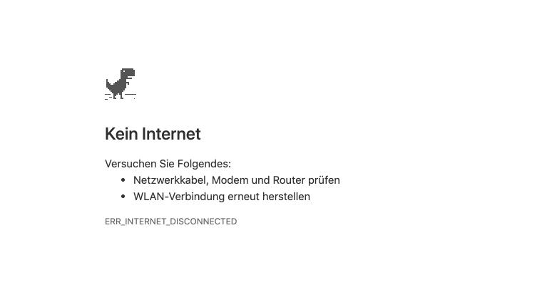 Kein Internet Dino