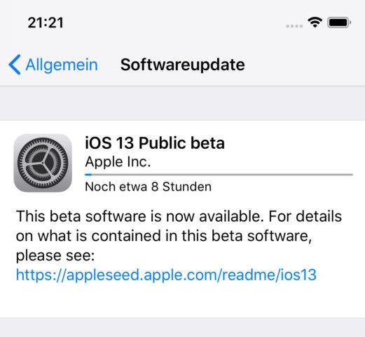 iOS 13 Installation