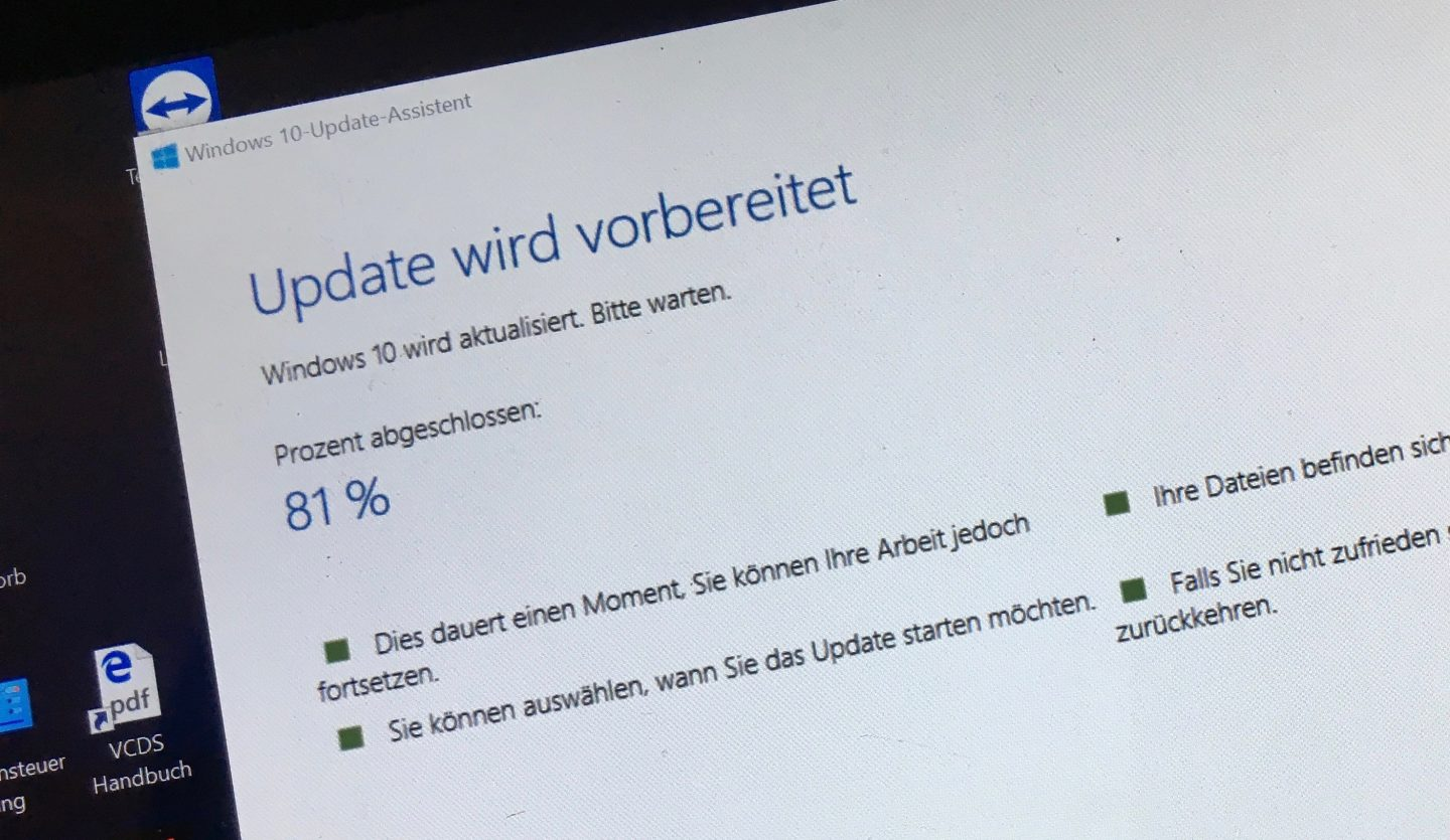 Jaja, das Windows-Update...
