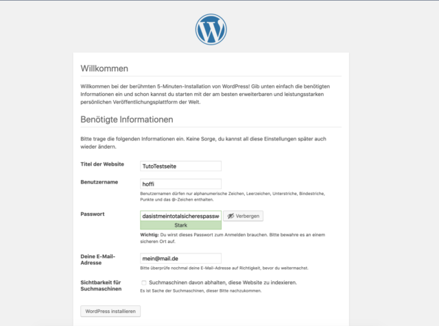 WordPress Synology Installation