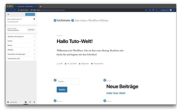WordPress-Website Synology