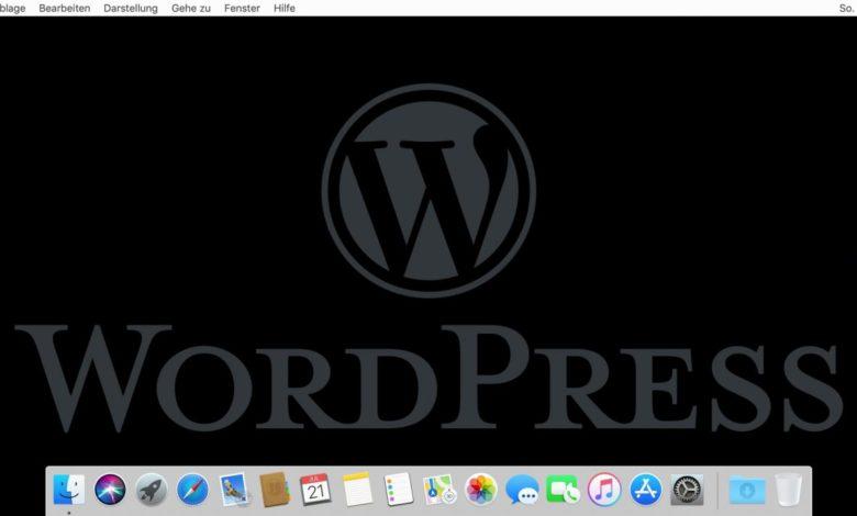 Wordpress auf dem Mac installieren? Kein Problem!