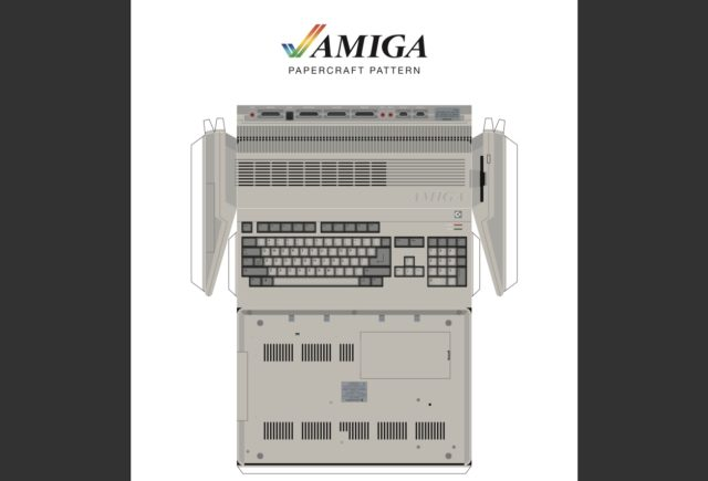 Amiga 500 Papercraft Rocky Bergen