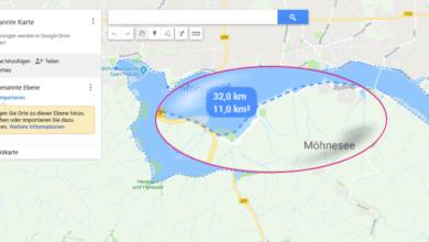 Photo of Google Maps: Flächen und Strecken messen