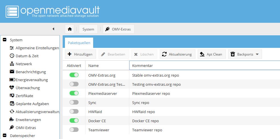 OpenMediaVault: Docker-Container aufsetzen und im Netzwerk