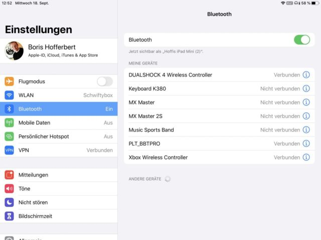 Controller iOS 13 Bluetooth