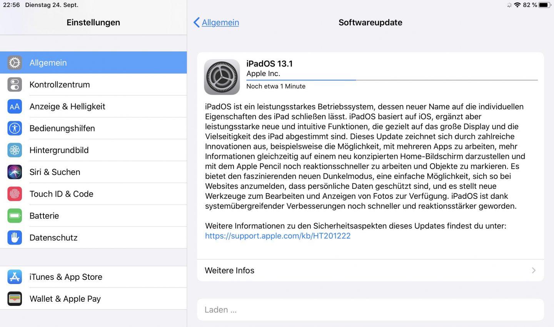 Anschließend könnt Ihr wie gehabt die finale Version des iPad- oder iPhone-Systems aufspielen.