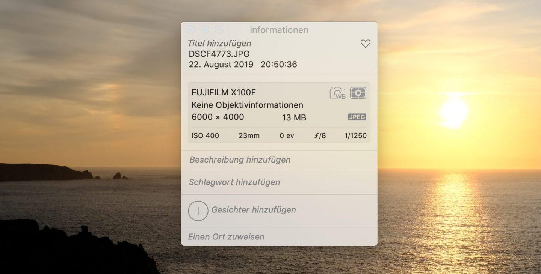 Das Originalbild aus der Kamera hat 13 MB – viel zu viel für's Internet.