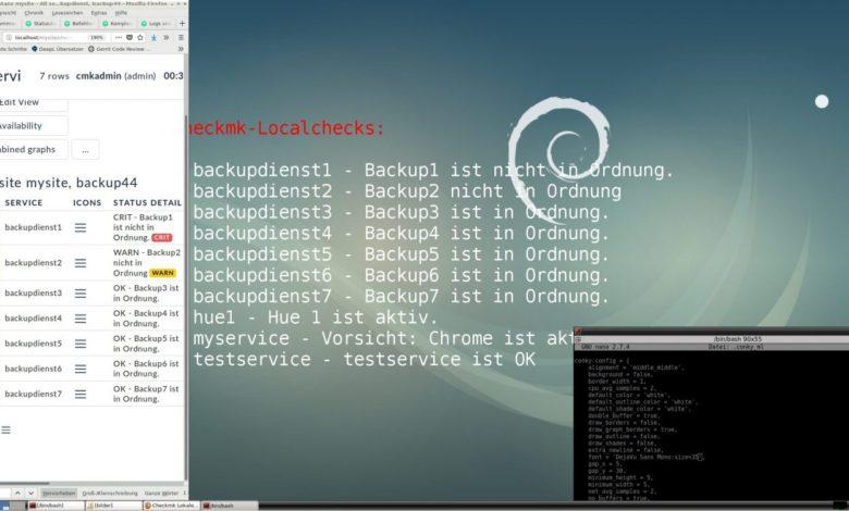 Bild von Checkmk + Conky: Check-Status als Desktop-Widget