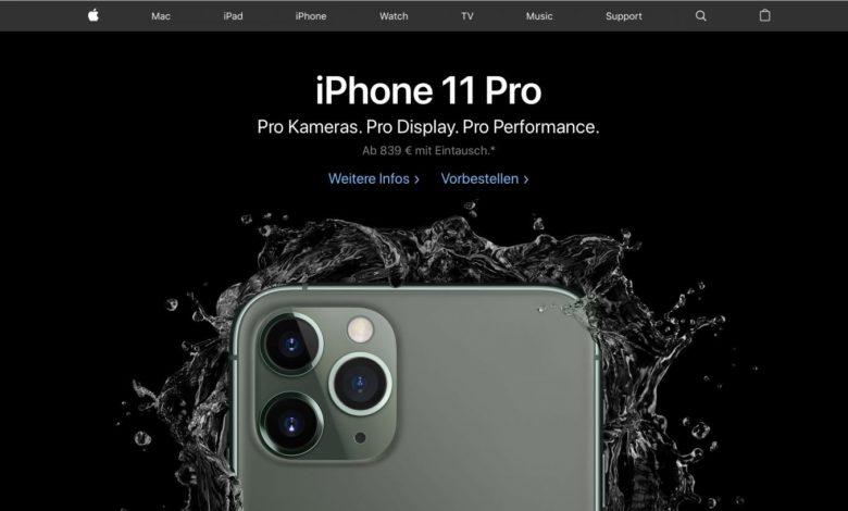Pro! Pro! Pro! (Quelle: Screenshot Apple.de)