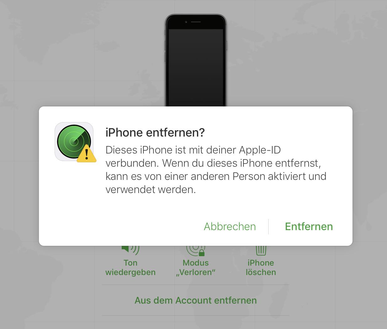 Mit zwei Klicks entfernt Ihr die Aktivierungssperre, auch wenn das iPhone am anderen Ende der Welt liegt.
