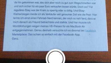 Bild von Anleitung: Schneller Scannen mit dem iPhone und iOS 13