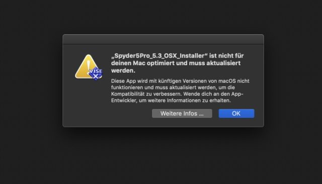 32-bit Software macOS Warnung